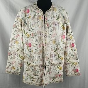 Jackets & Blazers - Vintage Reversible Quilted Button Up Jacket